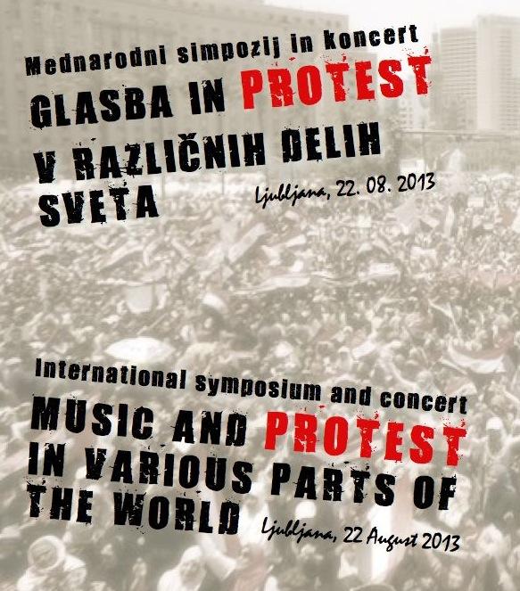 Glasba in protest koncert simpozij